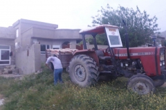plötzlich der Traktor